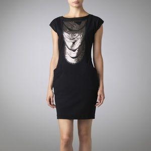 Ted Baker Bateau Neckline Black Sequined Dress 1